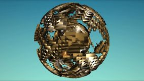 Sphere alien globe futuristic. Video of sphere alien globe futuristic stock illustration