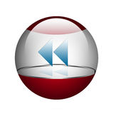 Sphere with arrows. Stock Photography