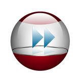 Sphere with arrows. Forward. Royalty Free Stock Photography