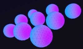 Sphere in the atom sphere, 3d. Render Royalty Free Stock Images