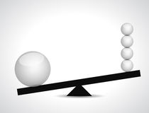 Sphere balance illustration design. Over a white background Stock Images