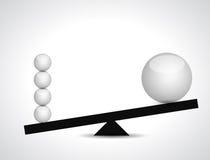 Sphere balance illustration design. Over a white background Stock Images