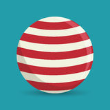 sphere ball red and white circus icon Stock Image