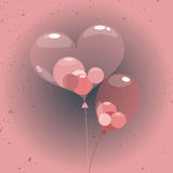 Sphere ballons inside heart balloon Stock Photo
