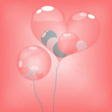 Sphere ballons inside heart balloon Royalty Free Stock Photography