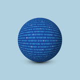 Sphere with binary code Stock Photos