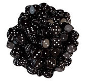 Sphere from black dice Royalty Free Stock Photos