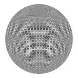 Sphere with black and white squares Royalty Free Stock Images