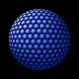 Sphere of Blue Spheres against Black Royalty Free Stock Photo