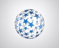 Sphere with blue star pattern Royalty Free Stock Photography