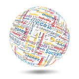 Sphere with business words Royalty Free Stock Images
