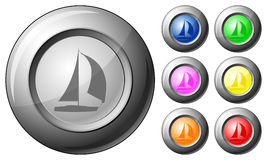 Sphere button boat Stock Photos