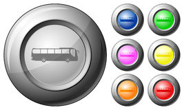 Sphere button bus Royalty Free Stock Photography