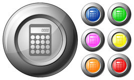 Sphere button calculator Stock Images