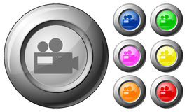 Sphere button camera Stock Images