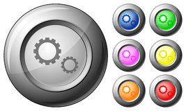 Sphere button gear Royalty Free Stock Photography