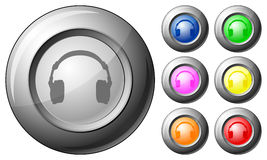 Sphere button headphone Stock Photo