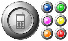 Sphere button mobile phone Stock Images