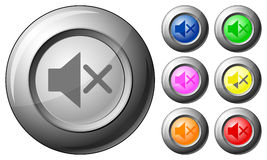 Sphere button mute Stock Photo
