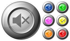 Sphere button mute Stock Photo