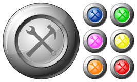 Sphere button tools Stock Photos