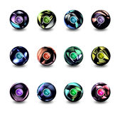 Sphere buttons Royalty Free Stock Images