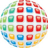 Sphere buttons Stock Photography