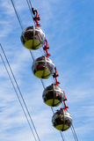 Sphere cable cars Royalty Free Stock Photography