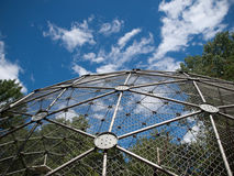 Sphere cage in zoo Royalty Free Stock Photography