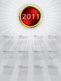 Sphere calendar design for 2011 Royalty Free Stock Image