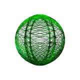 Sphere carcass framework. Isolated on white background. Vector i. Llustration Royalty Free Stock Images