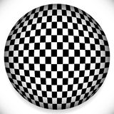 Sphere with Checkered Pattern Stock Images