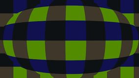 Sphere with checkers. Very beautiful, original background! stock image