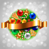 Sphere from Christmas objects Royalty Free Stock Photos