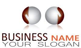 Sphere, Circle, Logo, Global, Abstract, Business, Company, símbolo redondo del icono Foto de archivo