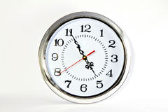 Sphere clock on white background , Royalty Free Stock Image