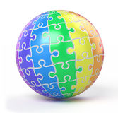 Sphere collected from puzzle Royalty Free Stock Images