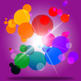 Sphere Color Represents Bubble Ring And Abstract Royalty Free Stock Photo
