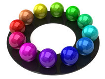Sphere color wheel Royalty Free Stock Photography