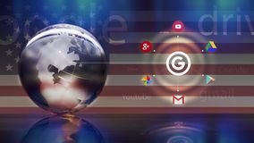 Google circle concept Stock Photography