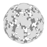 Sphere consisting of puzzles Royalty Free Stock Images