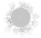 Sphere consisting of puzzles Stock Photography