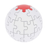 Sphere consisting of puzzles Royalty Free Stock Photo