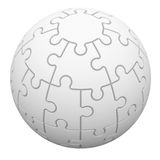 Sphere consisting of puzzles Royalty Free Stock Photos