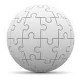Sphere consisting of puzzles Royalty Free Stock Photography