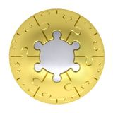 Sphere consisting of puzzles Royalty Free Stock Image