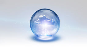 Sphere contains storm cloud Royalty Free Stock Photos