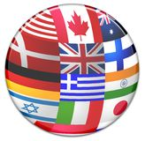 Sphere from country flags Stock Image
