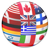 Sphere from country flags Royalty Free Stock Photo
