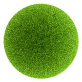 Sphere covered with green grass Royalty Free Stock Photography